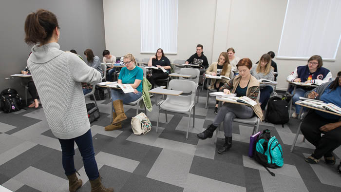Foreign language institute language learners in the classroom